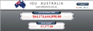 A$ Debt Clock